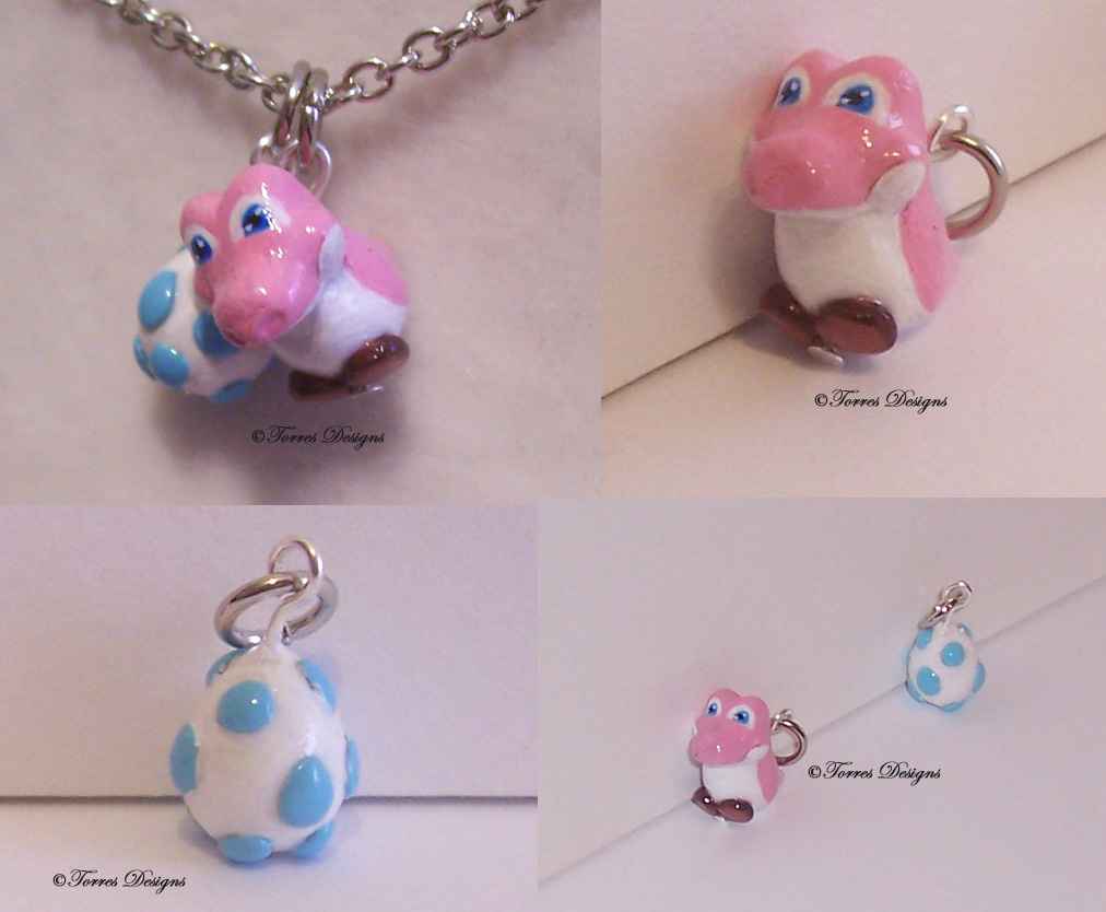 Baby Yoshi and Egg Charms – Super Mario