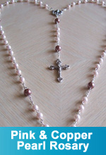 Pink and Copper Pearl Rosary