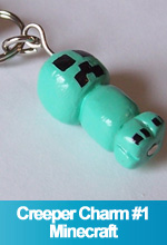 Creeper Cellphone Charm Minecraft Handamde Custom OOAK One of a Kind TorresDesigns Torres Designs