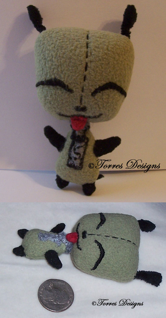 Chibi GIR Robot as Doggy Plush – Invader Zim