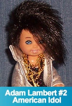 Adam Lambert American Idol 2009 OOAK Tommy/Kelly Barbie Doll by Torres Designs
