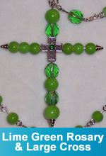 """Lucky"" Rosary and Large Cross"