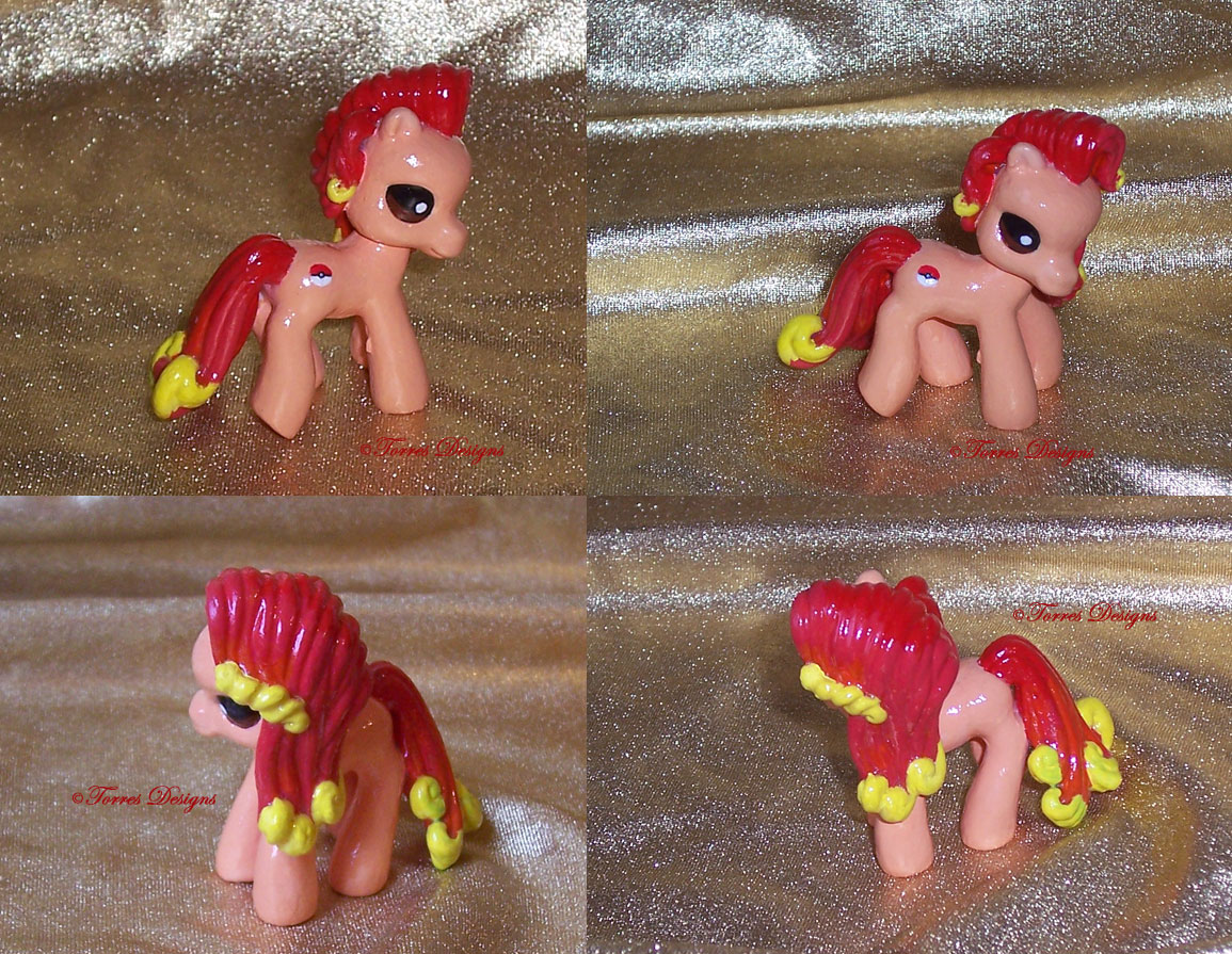 My Little Pony as Ponyta with Pokeball Cutie Mark