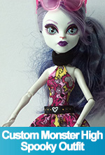 Custom Monster High Spooky Outfit