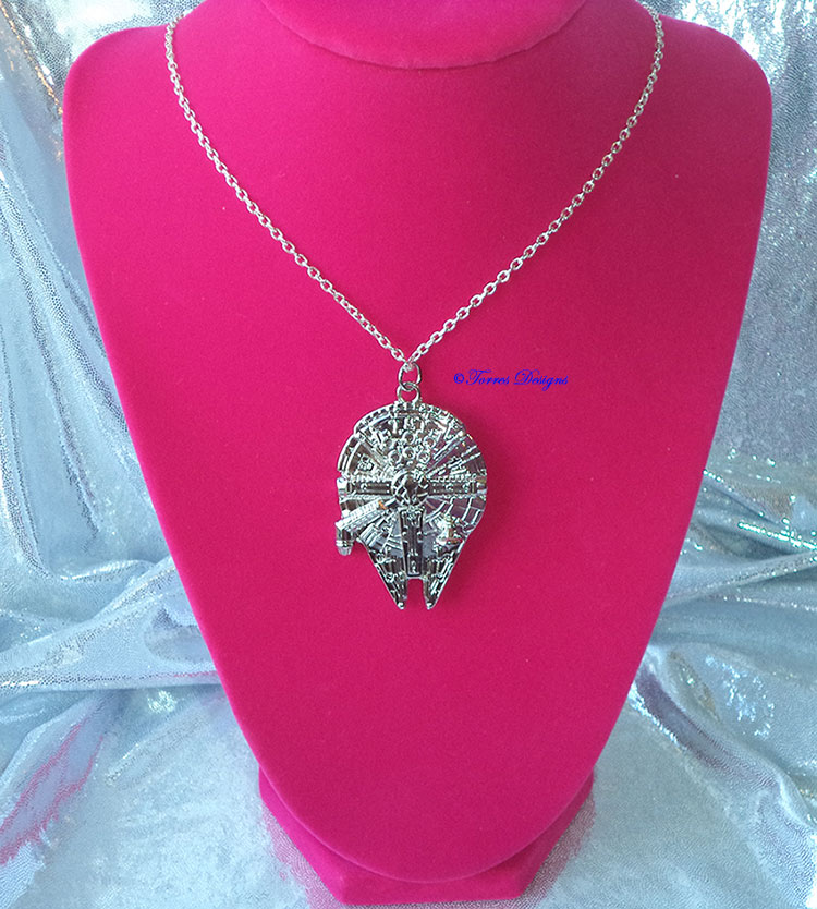 Star Wars Millennium Falcon Pendant Necklace Custom made