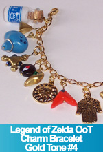 Ocarina of Time Charm Bracelet Gold Tone #4 OOAK One of a Kind Handmade Charms Custom TorresDesigns Torres Designs