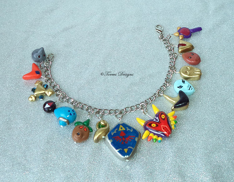 Legend of Zelda Charm Bracelet – All Custom Charms Legend of Zelda – Ocarina of Time and Majora's Mask