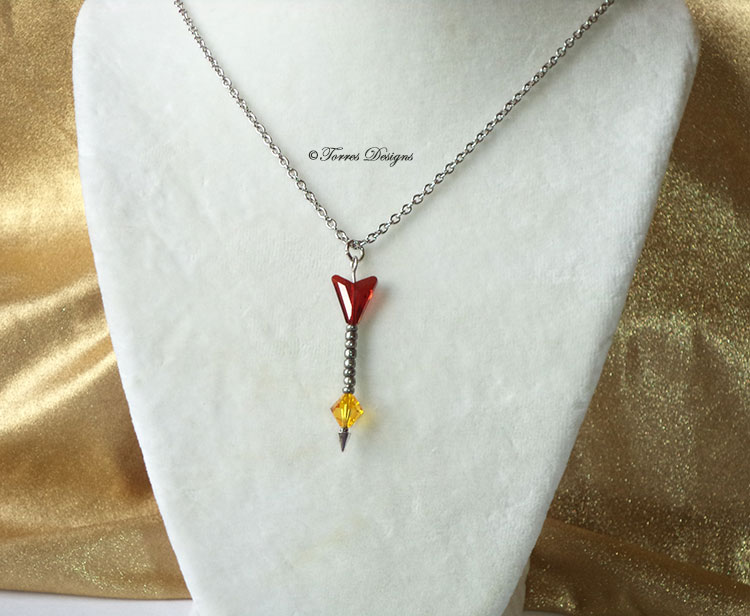 Light Arrow Swarovski Crystals Pendant Necklace Legend of Zelda – Ocarina of Time