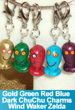 Gold Blue Red Green Dark ChuChu Charms Wind Waker Legend of Zelda Handmade Hand Sculpted Custom made Charms One of a Kind OOAK TorresDesigns TorresDesigns