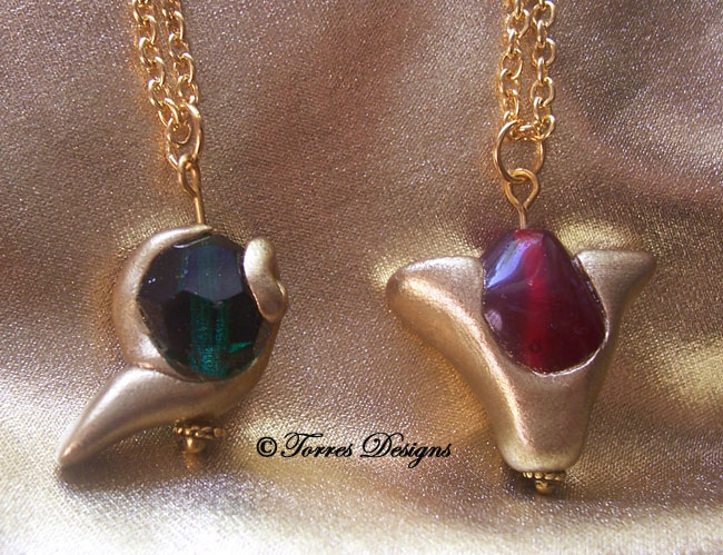 Spiritual Stones Pendants Necklaces of the Kokiri's Emerald and Goron's Ruby: Legend of Zelda – Ocarina of Time