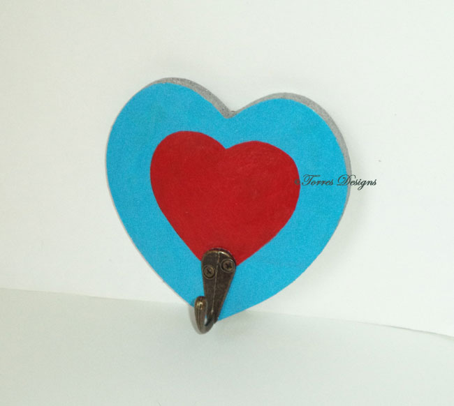 Heart Piece Container Hanging Wooden Hook Rack Hand Painted Custom made Legend of Zelda – Ocarina of Time