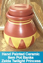 Hand Painted Ceramic Item Pot Banks Legend of Zelda Twilight Princess