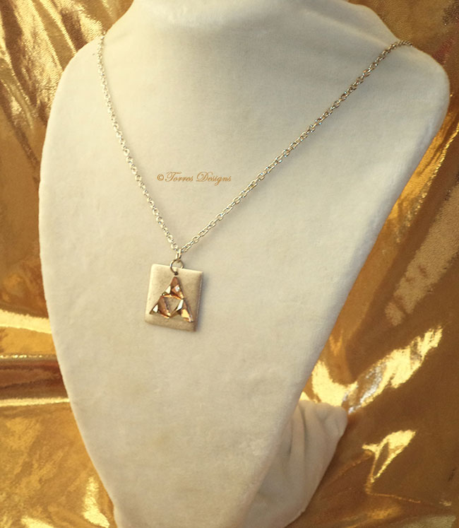 Triforce Pendant Necklace – Swarovski Crystal Elements Legend of Zelda