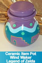 Wind Waker Item Pot Legend of Zelda Ceramic Hand Painted Custom made  OOAK TorresDesigns Torres Designs