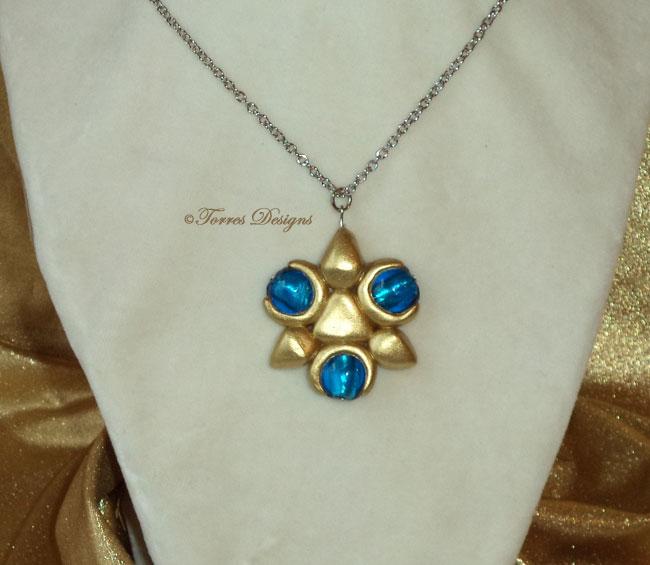 Princess Zelda Jewelry: Zora Sapphire Pendant Necklace Legend Of Zelda Twilight